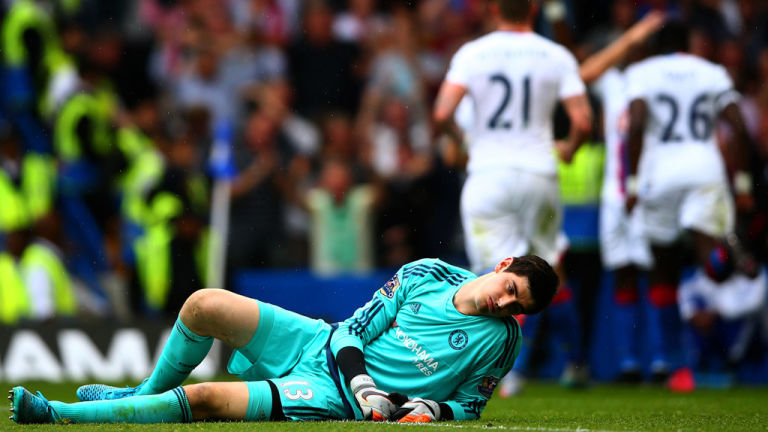 Courtois deve perder partida contra o Everton (Foto: Getty Images)