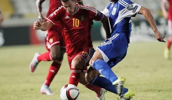 Eden Hazard em campo pela Seleção Belga (Foto: Chelsea FC)