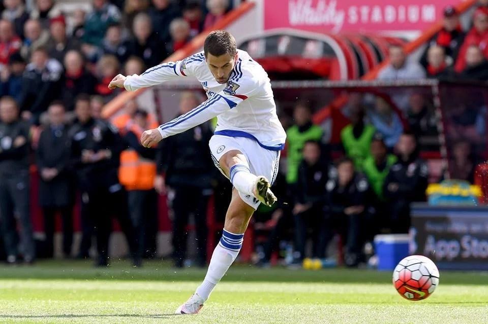 Hazard marcou após voltar de lesão (Foto: Chelsea FC)