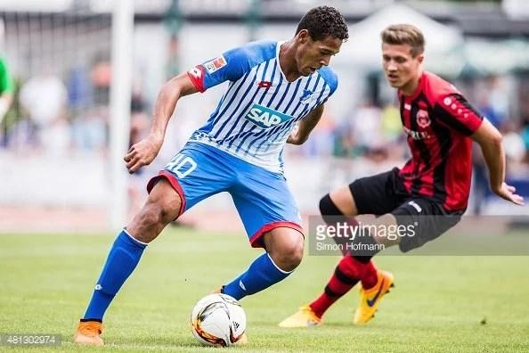 O pernambucano atuando pelo seu atual time o Hoffenheim da Alemanha.