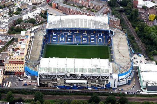 Vista aérea do Stamford Bridge (Foto: The Times)