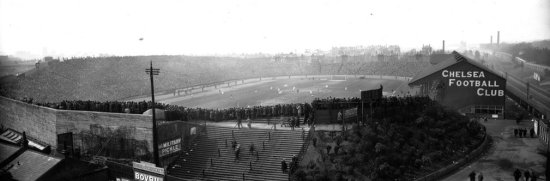 Stamford Bridge na final da FA Cup em 1920. (Foto: The Guardian)