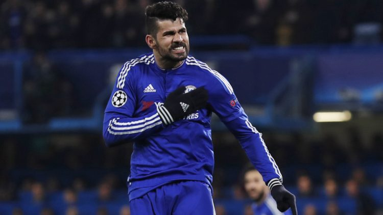 Football Soccer - Chelsea v Paris St Germain - UEFA Champions League Round of 16 Second Leg - Stamford Bridge, London, England - 9/3/16 Diego Costa celebrates after scoring the first goal for Chelsea Reuters / Eddie Keogh Livepic EDITORIAL USE ONLY. - RTSA2UW