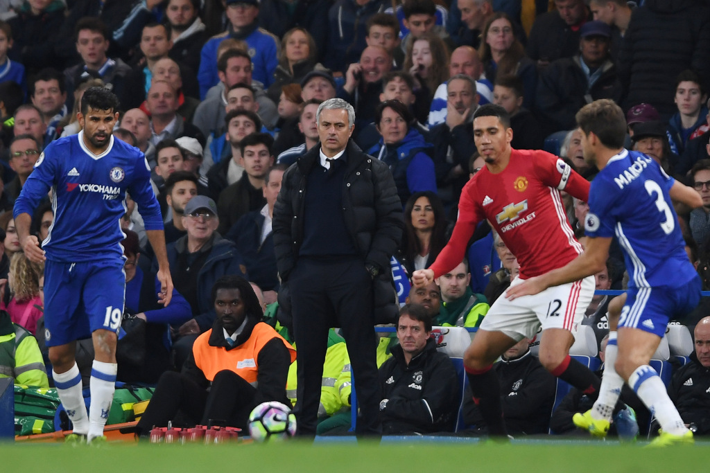 LONDON, ENGLAND - OCTOBER 23: Jose Mourinho, Manager of Manchester United looks on during the Premier League match between Chelsea and Manchester United at Stamford Bridge on October 23, 2016 in London, England. (Photo by Mike Hewitt/Getty Images)