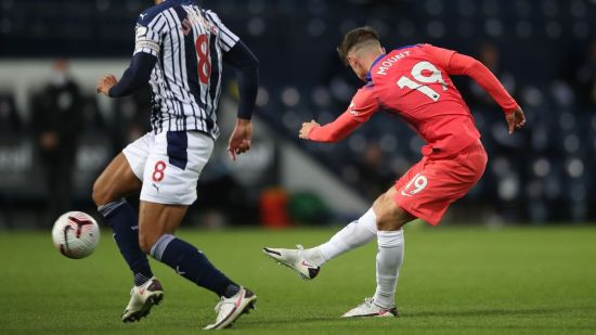 Mason Mount marca o primeiro gol do Chelsea no embate contra o WBA. (Premier League / Site)