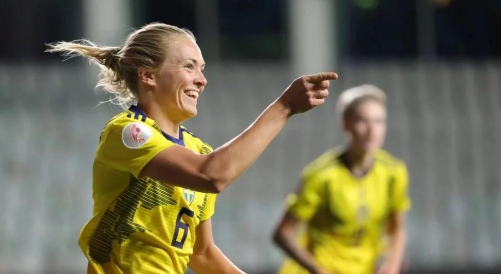 Chelsea Women: Magdalena Eriksson conduz Suécia em vitória contra Hungria.