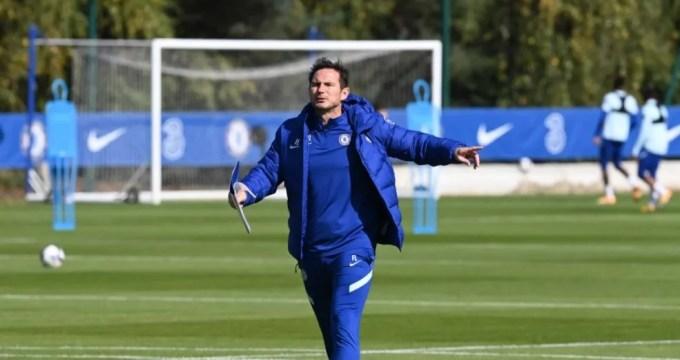 Frank Lampard comanda treinamento do Chelsea em Cobham