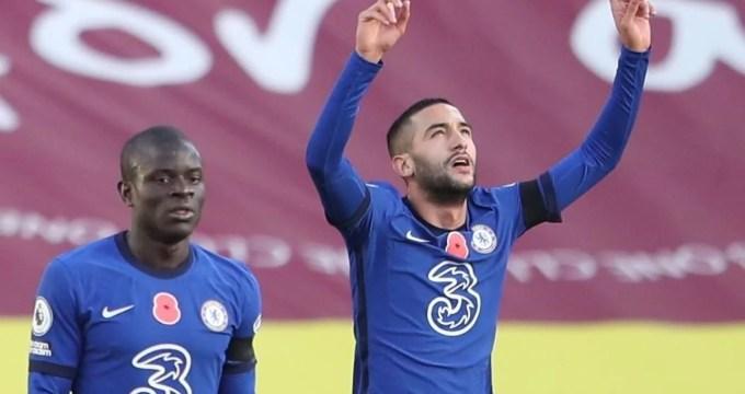 O Chelsea abriu o placar frente ao Burnley com o gol de Hakim Ziyech.