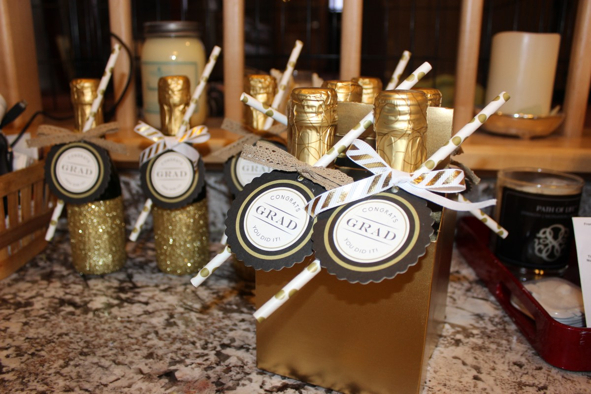 Diy Graduation Celebratory Mini Champagne Bottles