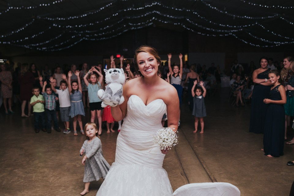 Teddy bear toss instead of bouquet toss