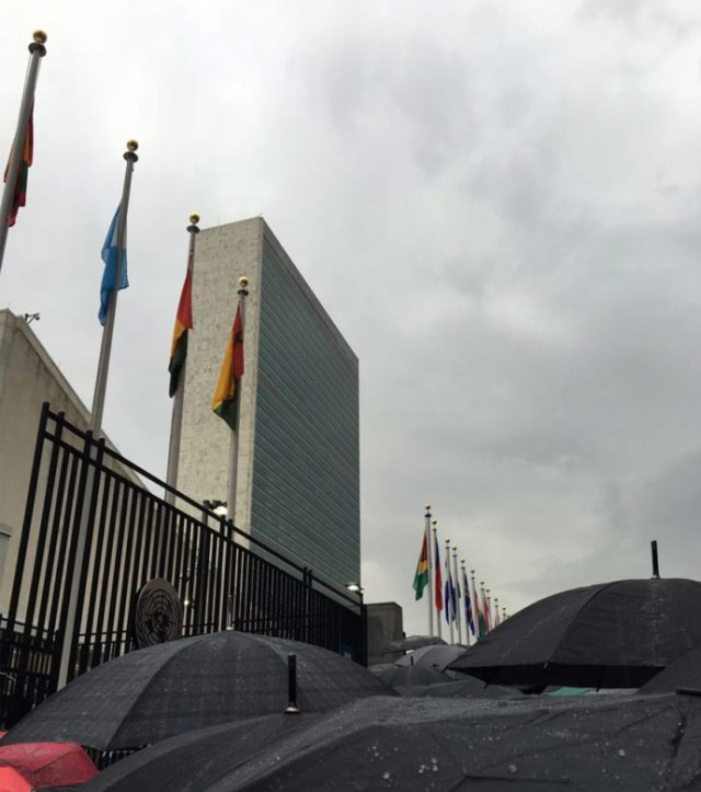 UN HQ gates in New York