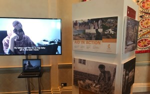 Aid in Action: an exhibition of photos from CTG consultants in the field. Many of the photos were by Iain Statham