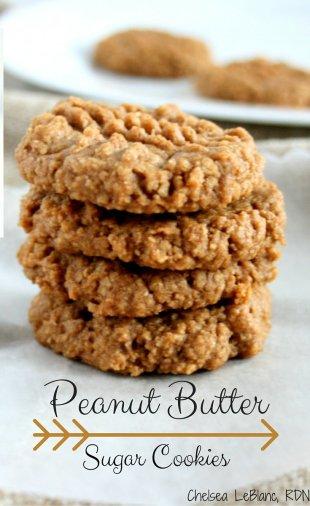 Peanut Butter Sugar Cookies