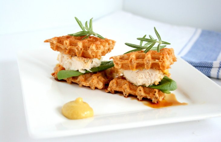 Chicken and Waffles Sandwich
