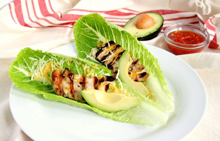 Chicken Lettuce Wrap Tacos