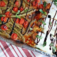 One Pan Caprese Chicken and Veggies