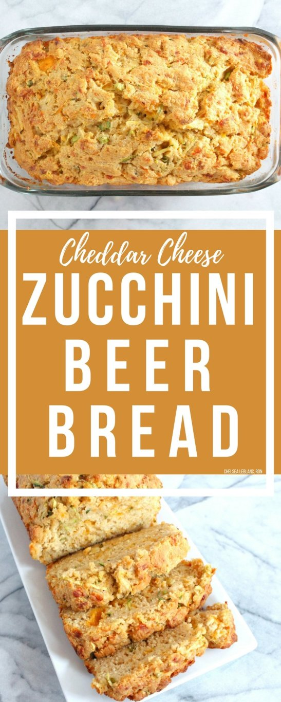 What do you get when you combine beer, cheese, and zucchini? Bread! My Cheddar Cheese Zucchini Beer Bread to be exact. This delicious quick bread is loaded with cheesy, buttery goodness. You won't even notice the veggies I snuck in.