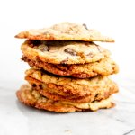 This chewy chocolate chip toffee cookie recipe is the absolute best! This simple recipe using heath bits is here just in time for holiday parties and Christmas cookie exchanges.