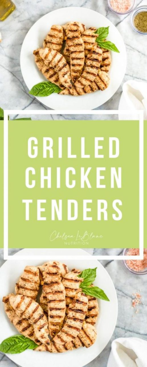 These freezer friendly grilled chicken tenders are the best for meal prep! Add them to a salad, pasta, or stir frys! They can be made in the George foreman, a skillet, grill pan, or good old-fashion grill.