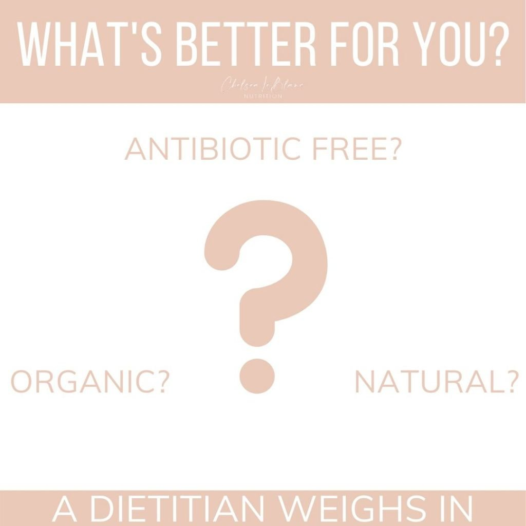 Is organic food better for you? Maybe not during the coronavirus outbreak. What about antibiotic free or natural foods? This dietitian weighs in with evidence- based answers.