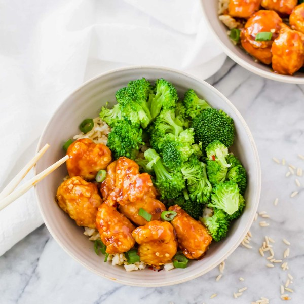 Air Fryer General Tso's Chicken and Rice