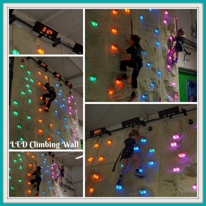 LED Climbing Wall Lemur Landings