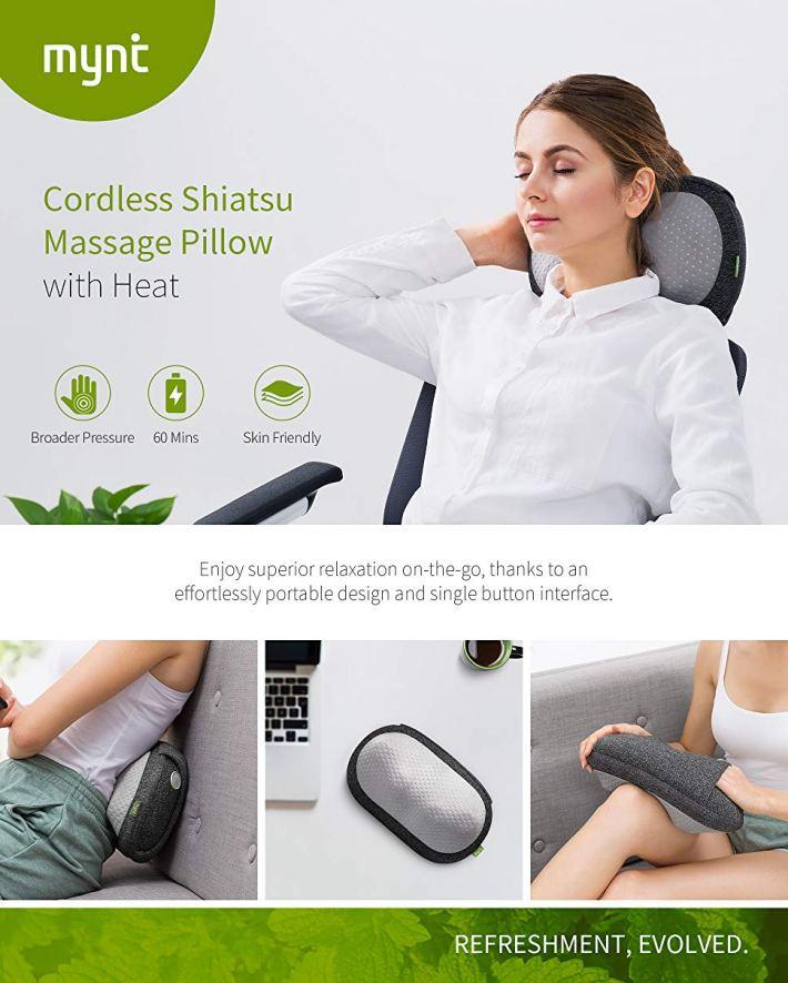 Cordless Shiatsu Massage Pillow