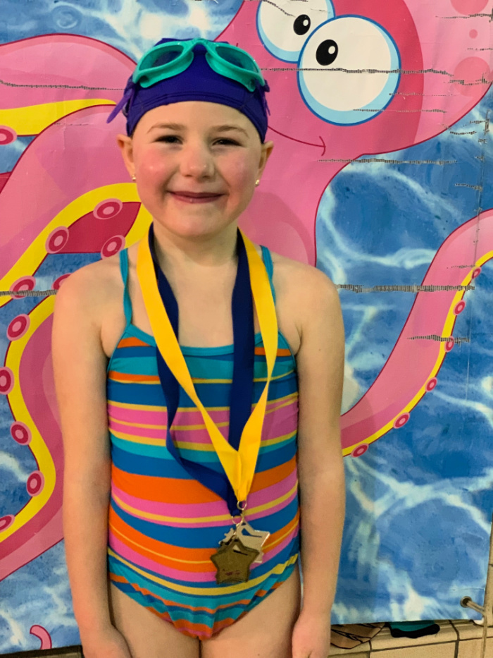 Eliza Swimming Medals