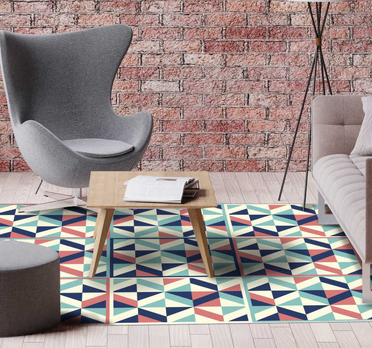 Geometric Vinyl Carpet