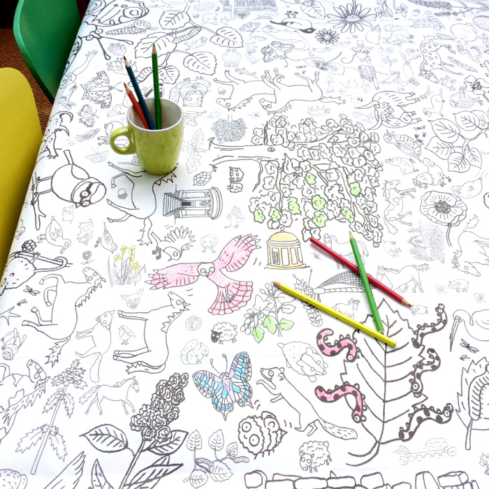 EGGNOGG COLOUR-IN TABLECLOTH TC11 table