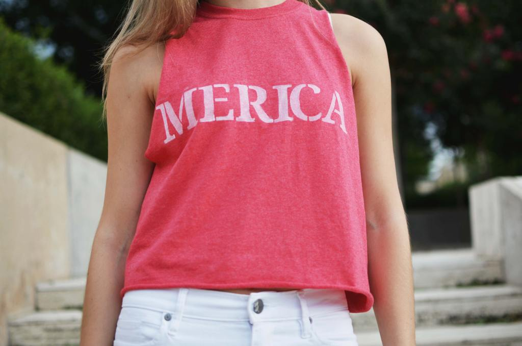 Chelsea+Morgan DIY Merica Shirt