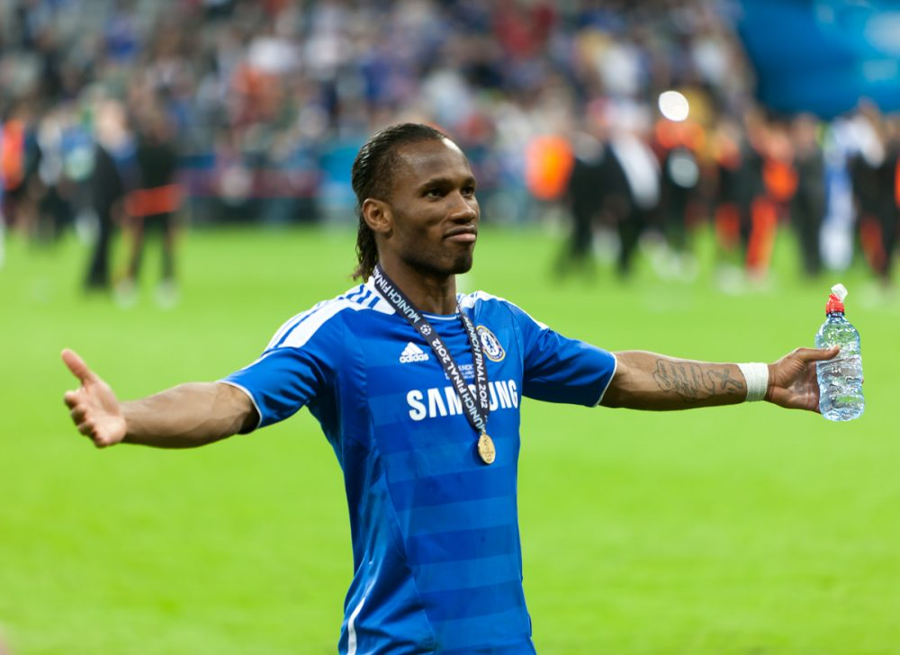 'Can We Sign Him Just For One Game?' 'Legend' Fans Are Loving Drogba's Celebration As Chelsea Make Europa League Final