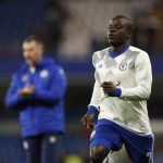N'Golo Kante warms up