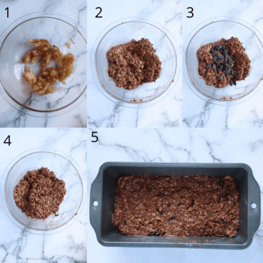 The Steps in which once takes to make Gooey Vegan Protein Brownies