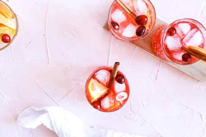 Spiced Orange Cranberry Spritz Aerial view