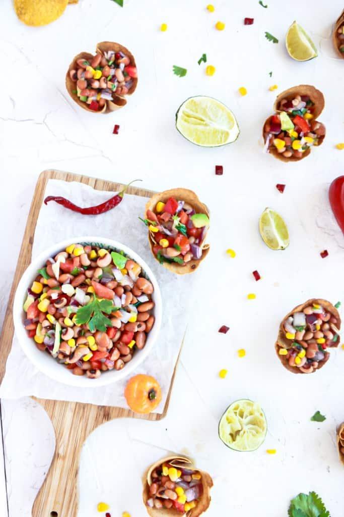 Individual Vegan Bean Dip Cups