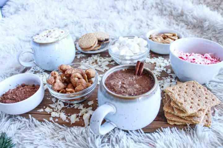 side angle of Hot Chocolate Charcuterie Board