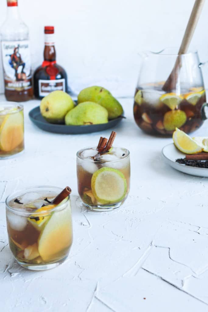 Fall Spiced Pear Punch in a pitcher