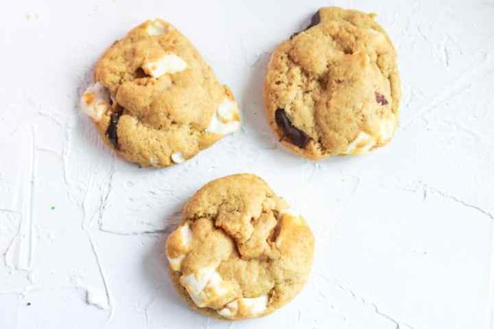 S'More Cookies three aerial shot