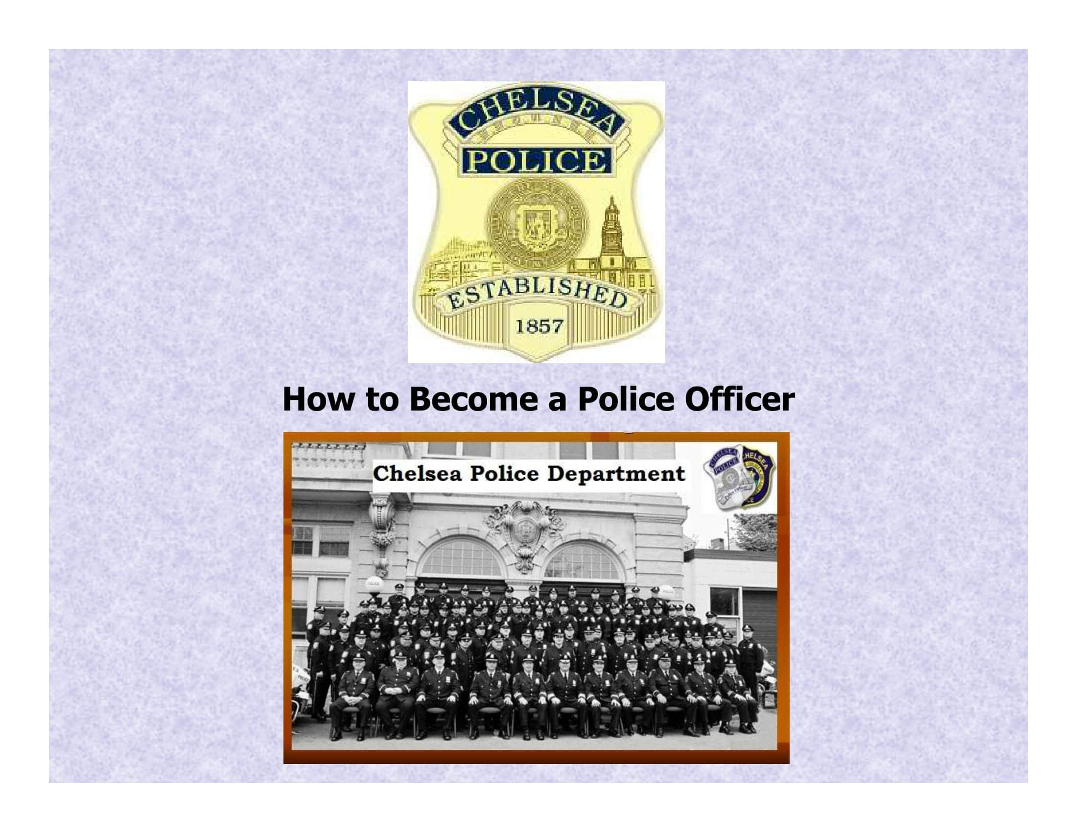 why i want to be a police officer paper