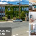 Converted schoolhouse loft condo with garage parking. Close to the T. Be in Boston in 15 minutes.