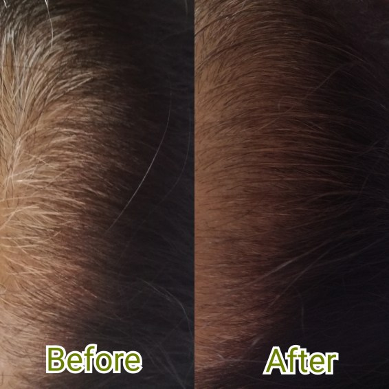 Cover up white hair for a natural look.