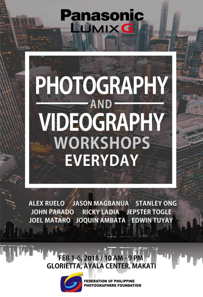 Panasonic Lumix G Photography and Videography Workshops. Courtesy of Lumix PH (Facebook)