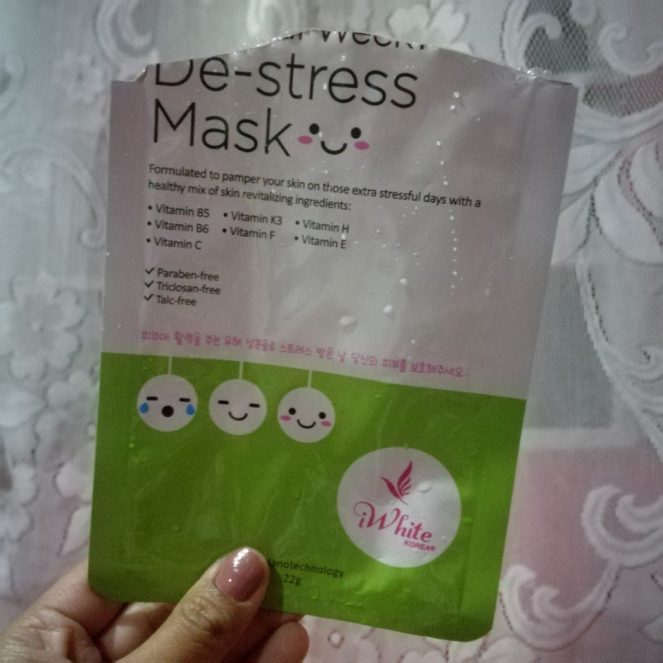 iWhite Korea De-stress Mask