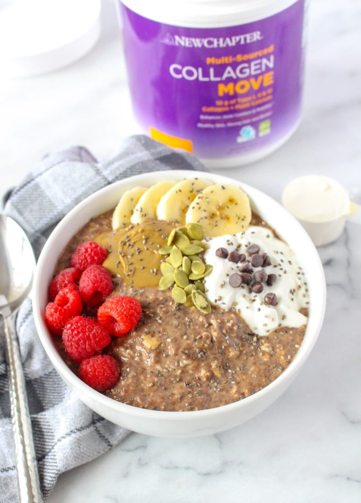 microwave chocolate protein oatmeal