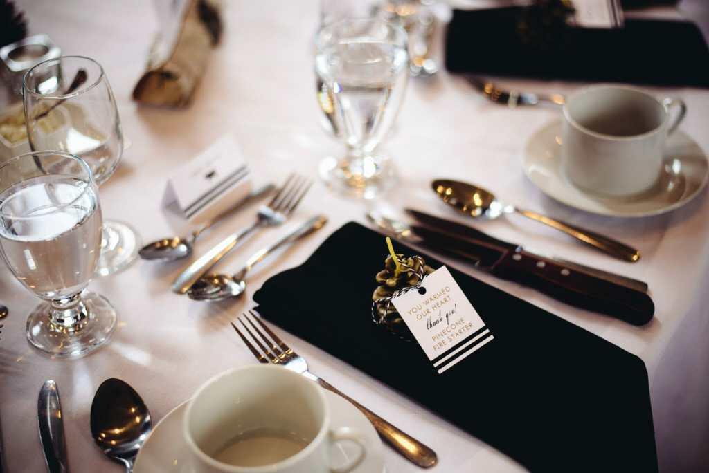 wedding favours at newcastle community hall wedding