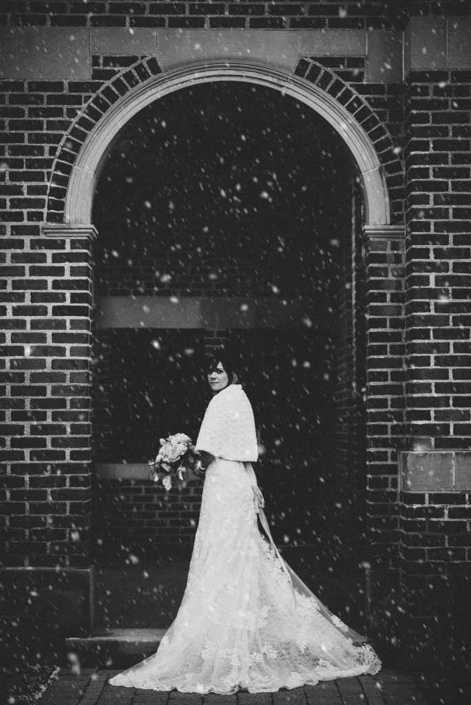 bride at newcastle community hall wedding