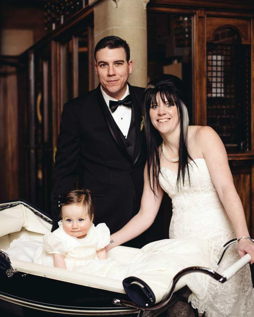 family photo at newcastle community hall