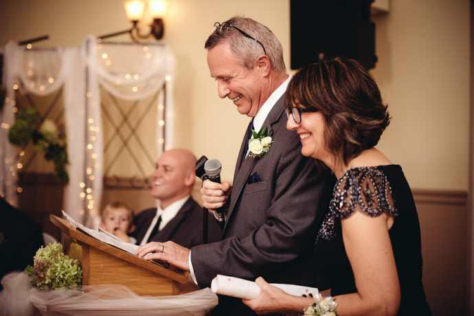 parents speech at st leo church wedding brooklin
