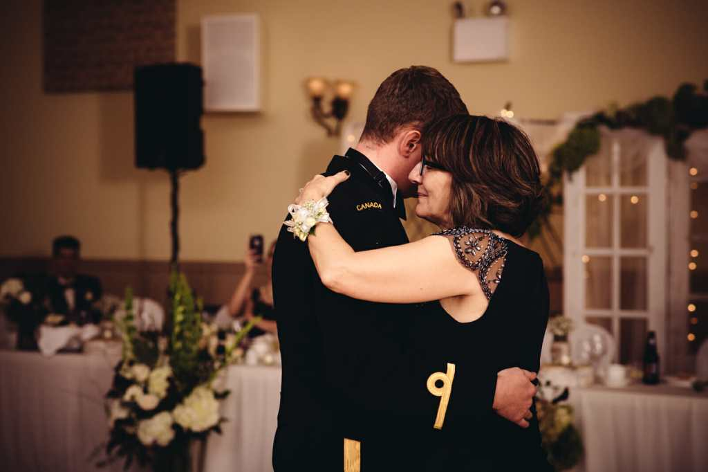 mother son dance at church wedding